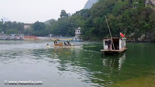 Paso de barca del rio Li, Xinping