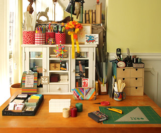 Minha mesa no meu estúdio