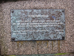 Photo of Bannerman's Bridge grey plaque