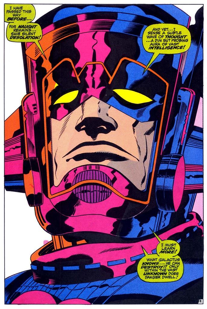 Thor 160 Galactus splash page 1968 Kirby