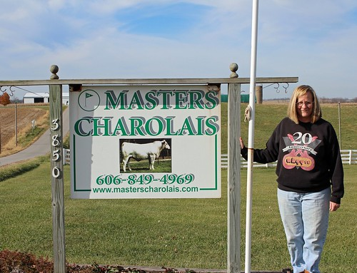 Rose Ann Masters, a retired educator, has been running the Masters Charolais Farm with her husband Charlie since 2006. NRCS photo by Christy Morgan.