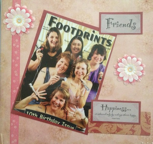 Page from the scrapbook given to me after closing Footprints magazine
