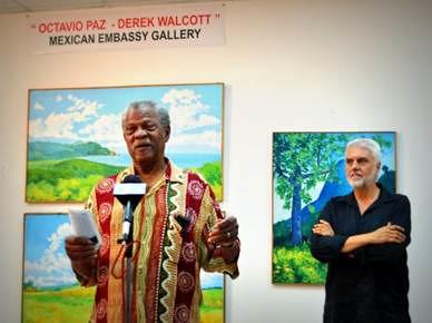 Exposición de Sir Dunstan St. Omer en la Embajada de México ante los Países del Caribe Oriental