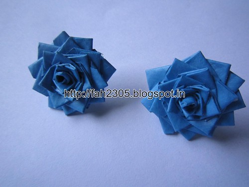 Handmade Jewelry - Paper Rose Earrings (DT) (1) by fah2305
