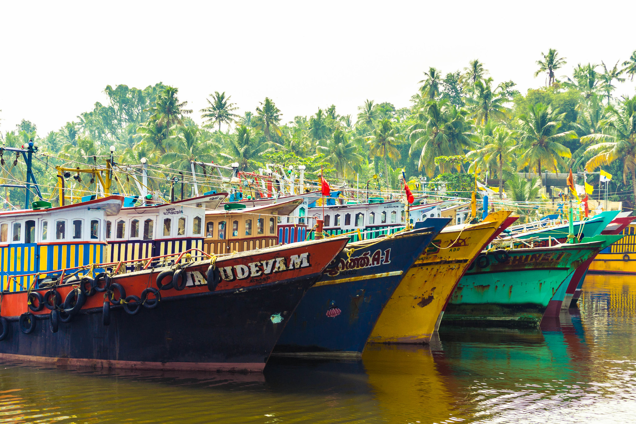 Colorful Fishing Trawlers
