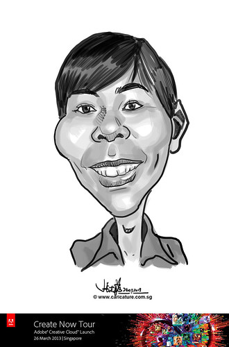 digital caricature for Adobe Create Now Tour - Joshua Riordan