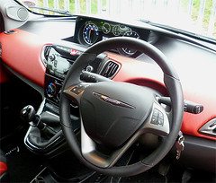 chrysler red and black dash