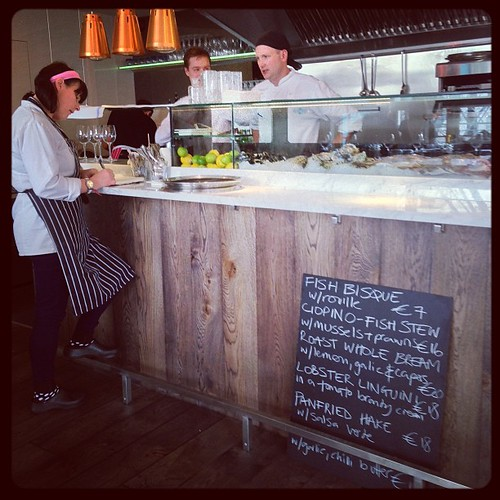 Talking #fish in @electriccork's new Fish Bar.