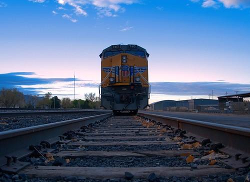 railroad newmexico leaves clouds train sunrise tracks bluesky olympus locomotive alamogordo omd m43 micro43 panasonic14mmf25 snapseed