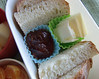 Bread and butter and crabapple jelly bento