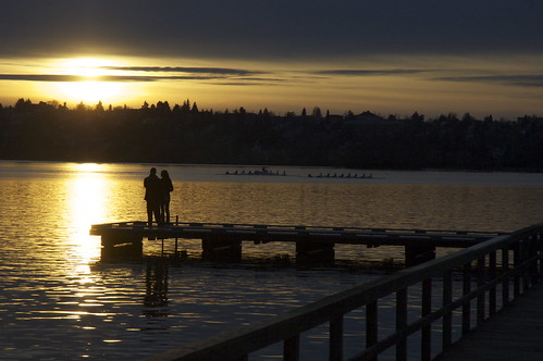 seattle sunset washington dock lovers greenlake