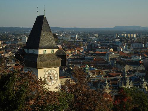 DSCN8953 _ Uhrturm, Schloßberg, Graz, 8 October