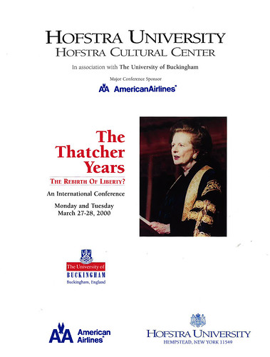 Margaret Thatcher at Hofstra