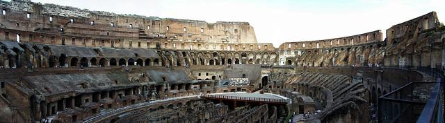 Panorámica del coliseo de Roma