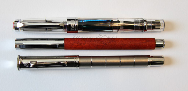 Faber-Castell Ambition Pearwood Fountain Pen - Fine With TWSBI & Graf Von Faber-Castell Anello Titanium