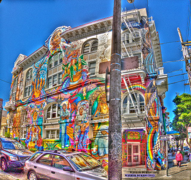 Women's Building Mural HDR