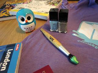 Owl, Illamasqua and brush pen