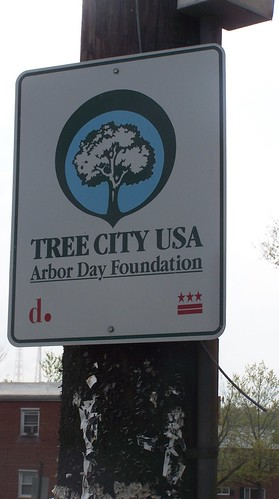 DC, Tree City USA street sign