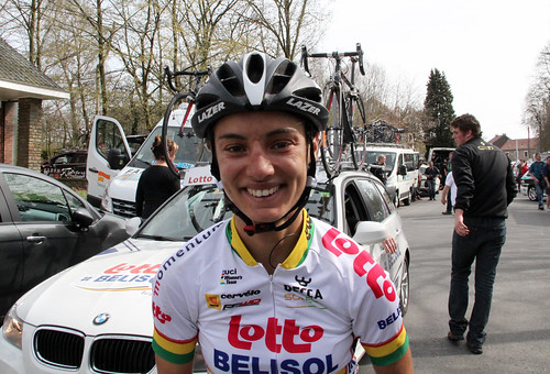 Ashleigh Moolman, after coming third in La Flèche Wallonne