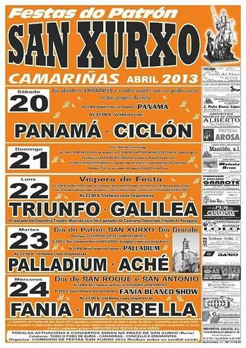 Camariñas 2013 - Festas patronais de San Xurxo en Buría - cartel