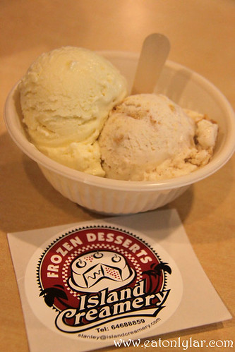 Durian and Nutella Ice-cream, Island Cremery