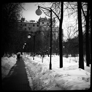 Chapayevsky park. Winter