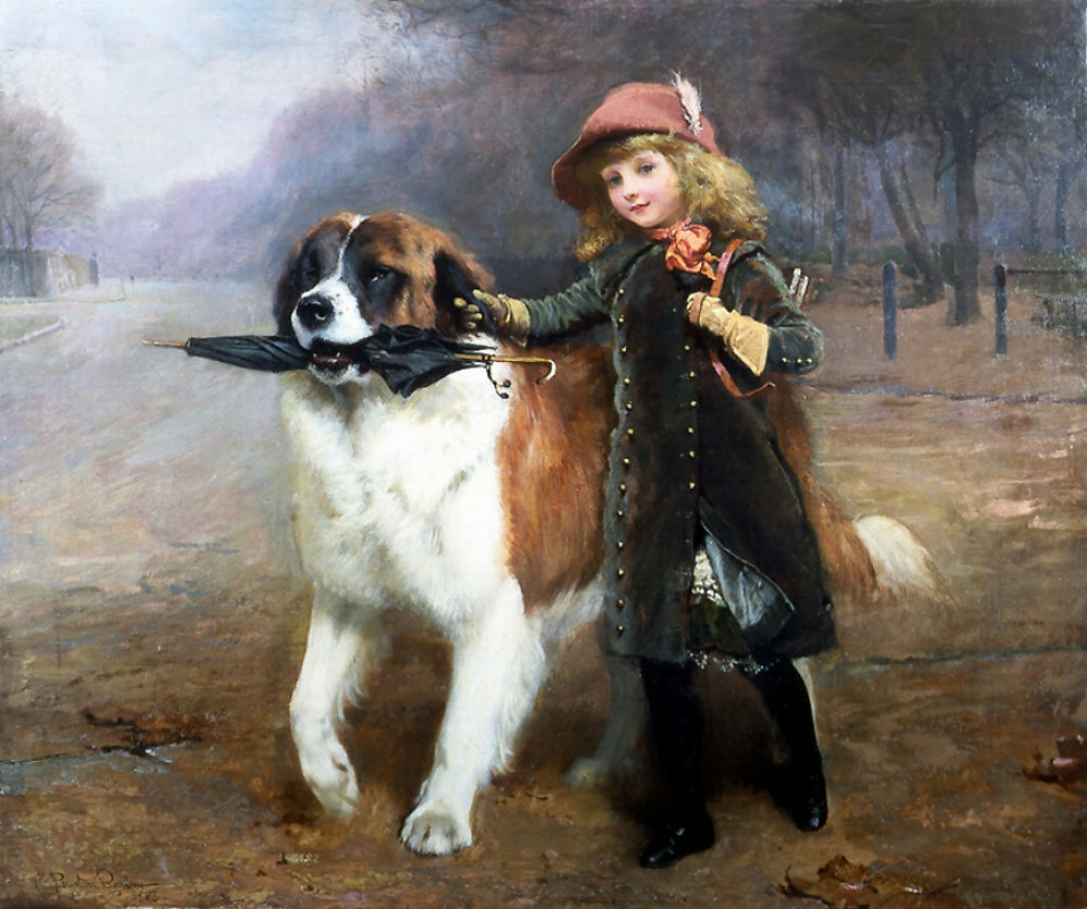 Off to School by Charles Burton Barber, 1883