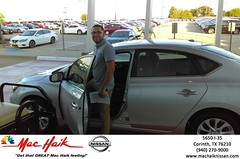 Congratulations Belen on your #Nissan #Sentra from Greg Amos at Mac Haik Nissan Corinth! #NewCar