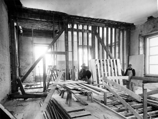 Bedroom and Sitting Room of the White House during the Renovation, 02/27/1950