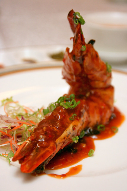 King Prawn with Plum Sauce