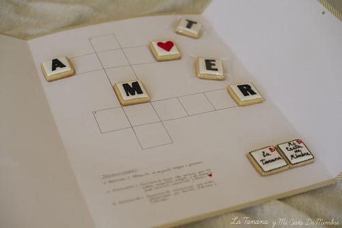 Galletas crucigrama Amor y galletitas Love