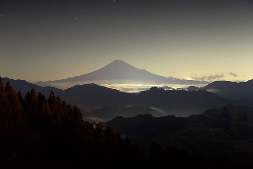 winter nightview mtfuji 2013 seaofcloud