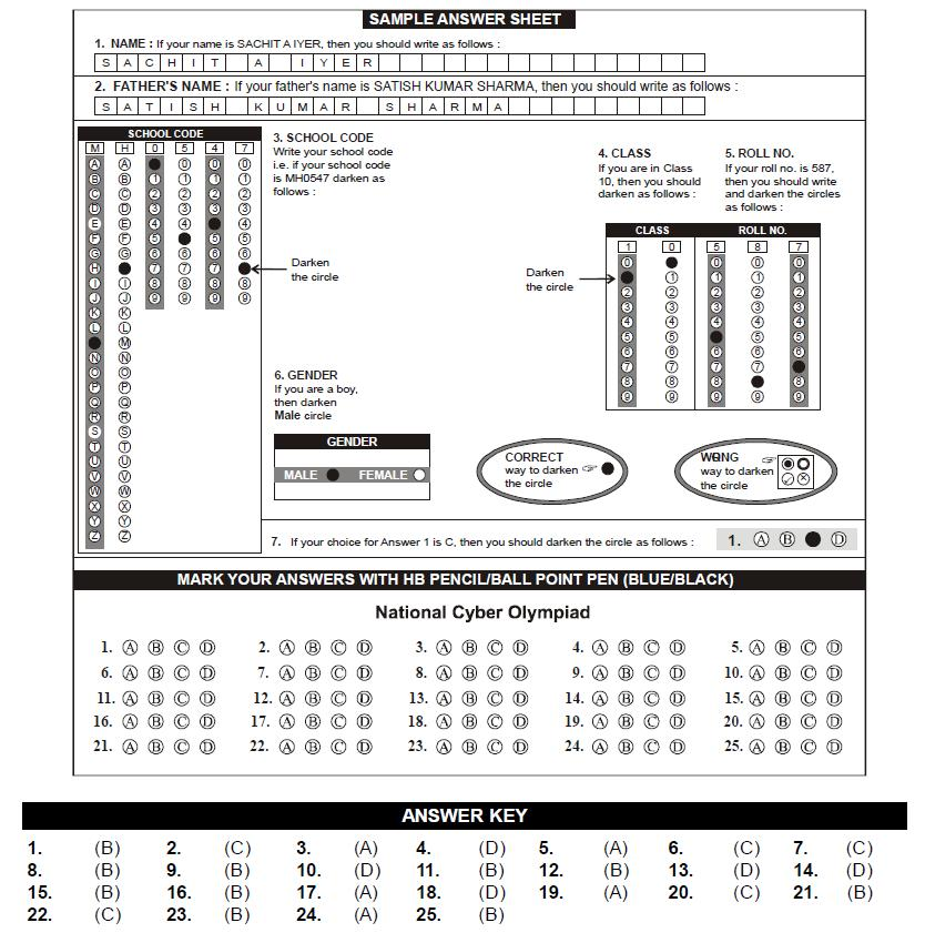 NSO 2nd Level Sample Papers - Class 7