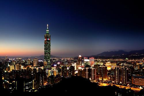 Taipei 101 After Sunset