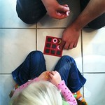 2/9 On the ground. #cmglimpse Playing tic tac toe with Dada.