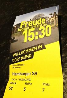 Eintrittskarte: Borussia Dortmund vs. Hamburger SV