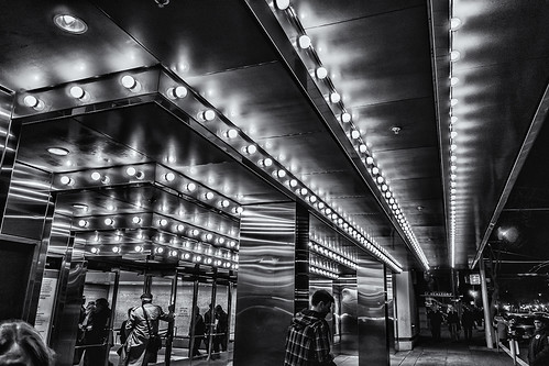 davies symphony hall bright lights (black and white) by joeeisner