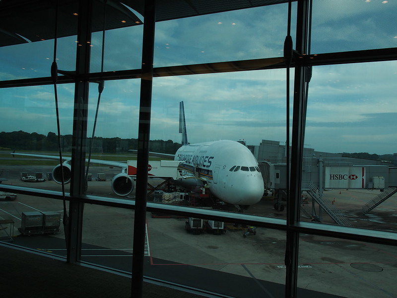 SQ A380 at Changi Airport