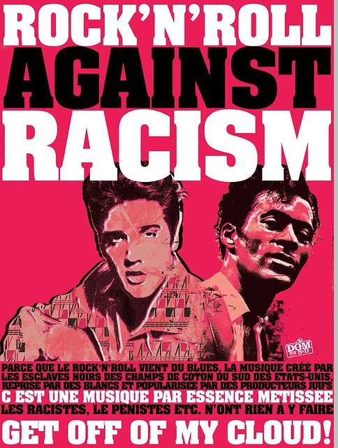 rockers against racism by dom sd   elvis presley amp chuck