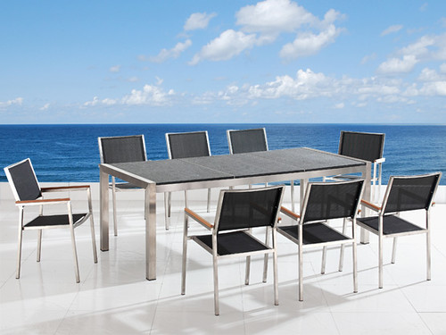 outdoor patio dining furniture with table and chairs