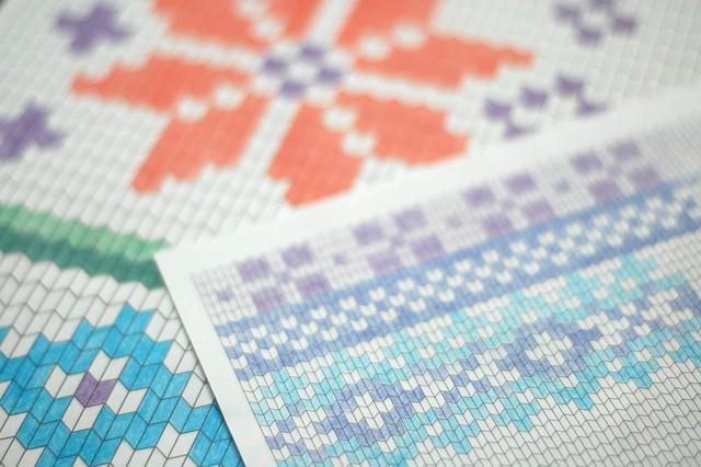 knitting paper