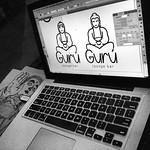 """Logo Gurú con mi type """"parábola"""" integrando la imagen y la tipografía #enproceso"""