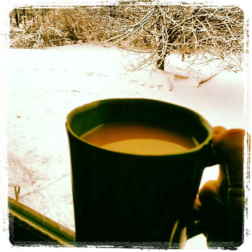 Good Morning! #coffee #snow