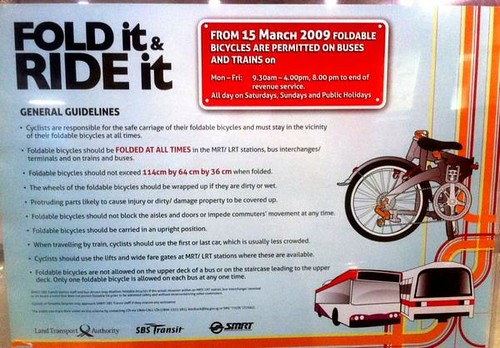 Fold it and Ride it - bicycles on MRT and Bus