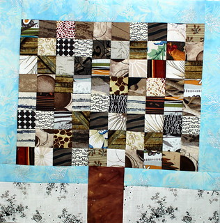 Winter Postage Stamp Tree Block