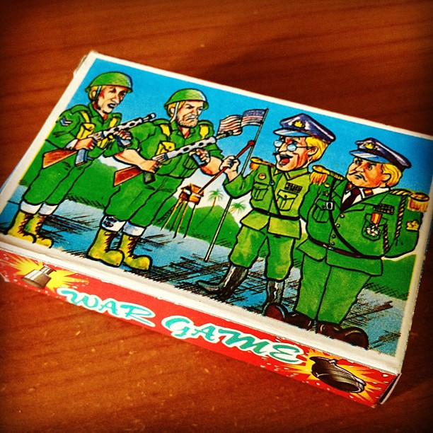 Childhood army playing cards