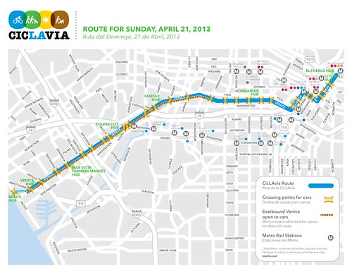 Ciclavia Route Map 2013