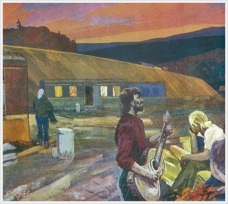 Титов Юрий Александрович (Россия, 1926 - 1998) «Песня»