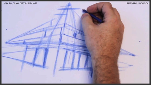 learn how to draw city buildings 008