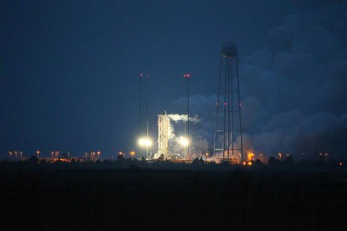 "Antares Conducts ""Hot Fire"" Test"